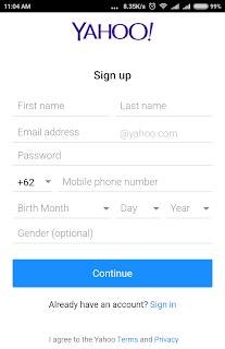 Cara Daftar Email Yahoo Indonesia Lewat HP Android
