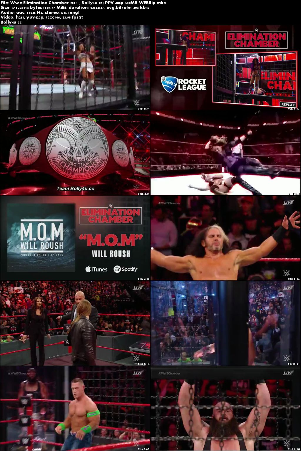 WWE Elimination Chamber 2018 PPV 480p 550MB WEBRip Download