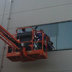 Commercial window cleaning services in Orange County CA. We have all the proper equipment to get your commercial building clean now matter how big it is. We are rated 5 stars on Google and Yelp!