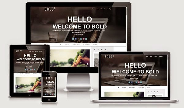 Bold Modern Parallax Responsive Blogger Templates - Indonesian