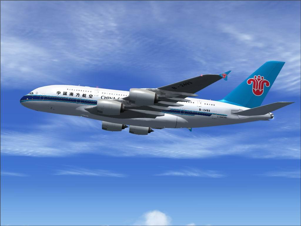DOWNLOAD Airbus A380-800 VC China Southern FSX & P3D - Waktu