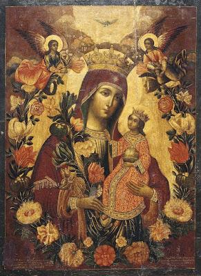 Εικόνα: «Ρόδον το Αμάραντον» βρίσκεται στους Αγίους Τόπους,   στο Παρεκκλήσιο της Μαρίας της Μαγδαληνής (ή Mη Μου Άπτου).