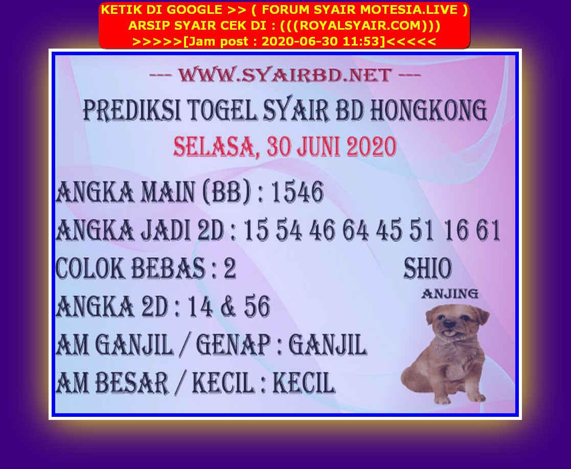 Kode syair Hongkong Selasa 30 Juni 2020 191