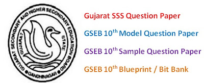 GSEB SSC (10th) Model Question Paper 2017 Blueprint