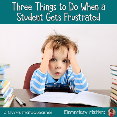 Three Things to Do When a Student Gets Frustrated: students can get frustrated over many things from math problems to social issues. Here are three things teachers can do to help frustrated students.