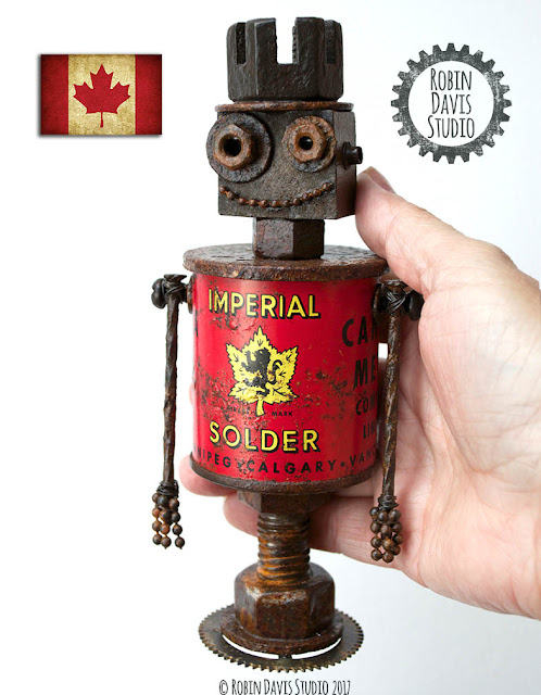 Canada 150 Robot Sculpture by Robin Davis Studio