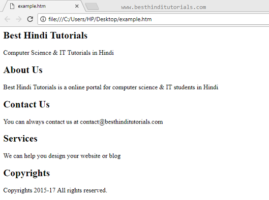 HTML5-section-tag-example-in-Hindi