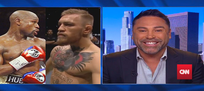 Oscar De La Hoya REACTS To Floyd Mayweather vs. Conor McGregor Fight (VIDEO)