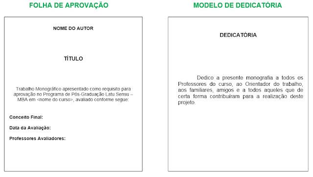 Dedicatoria de monografia exemplos