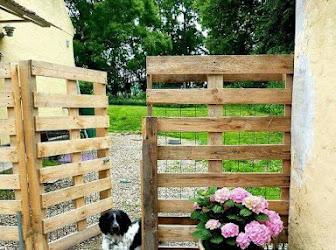 Cerca jardín de palets