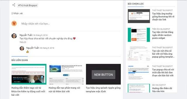Hướng dẫn tải Comment Form sau khi tải trang hoặc tạo Button Click