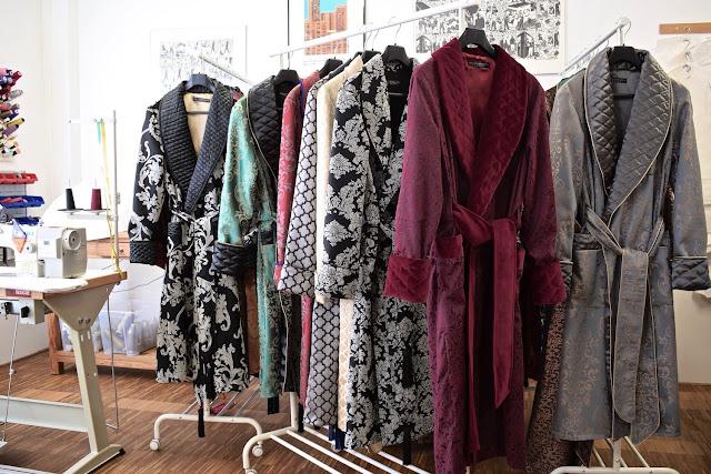 mens quilted silk dressing gown paisley robe velvet smoking jacket victorian gentleman vintage housecoat
