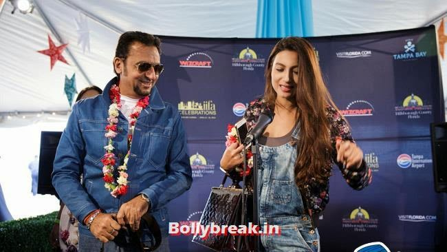 Gulshan Grover and Gauhar Khan, IIFA Awards 2014 Pics