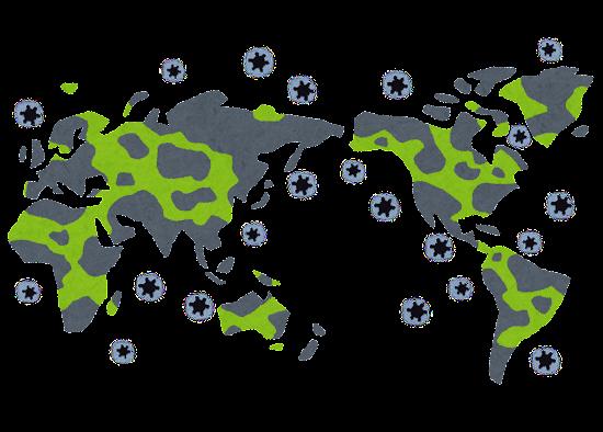 パンデミック・世界的な感染症のイラスト