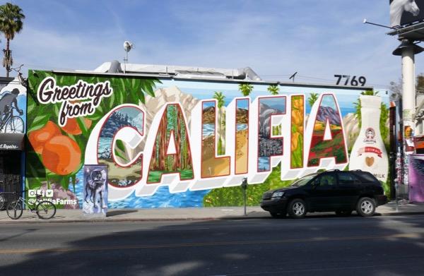 Califia Almond Milk wall mural ad