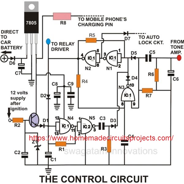 cellphone signal processor circuit
