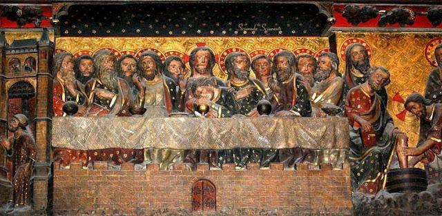 Ingresso di Gesù a Gerusalemme, Ultima Cena, Lavanda dei piedi- Notre Dame Parigi