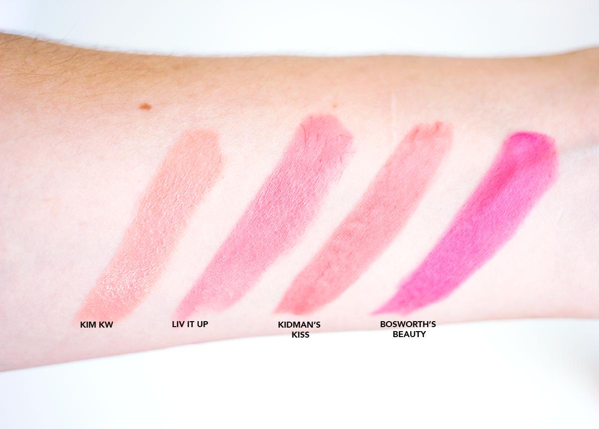 Charlotte Tilbury's Hot Lips Lipstick Swatches