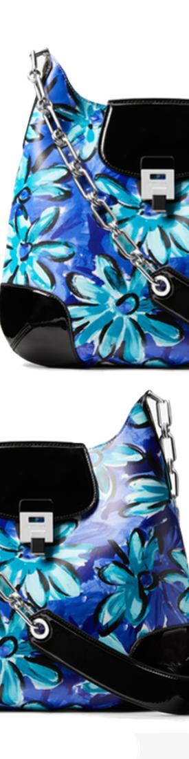 Michael Kors Collection Bancroft Oversized Daisy Calf Leather Shoulder Bag