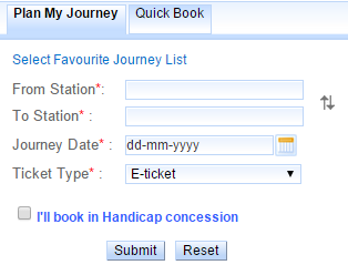 Plan My Journey | Quick Book