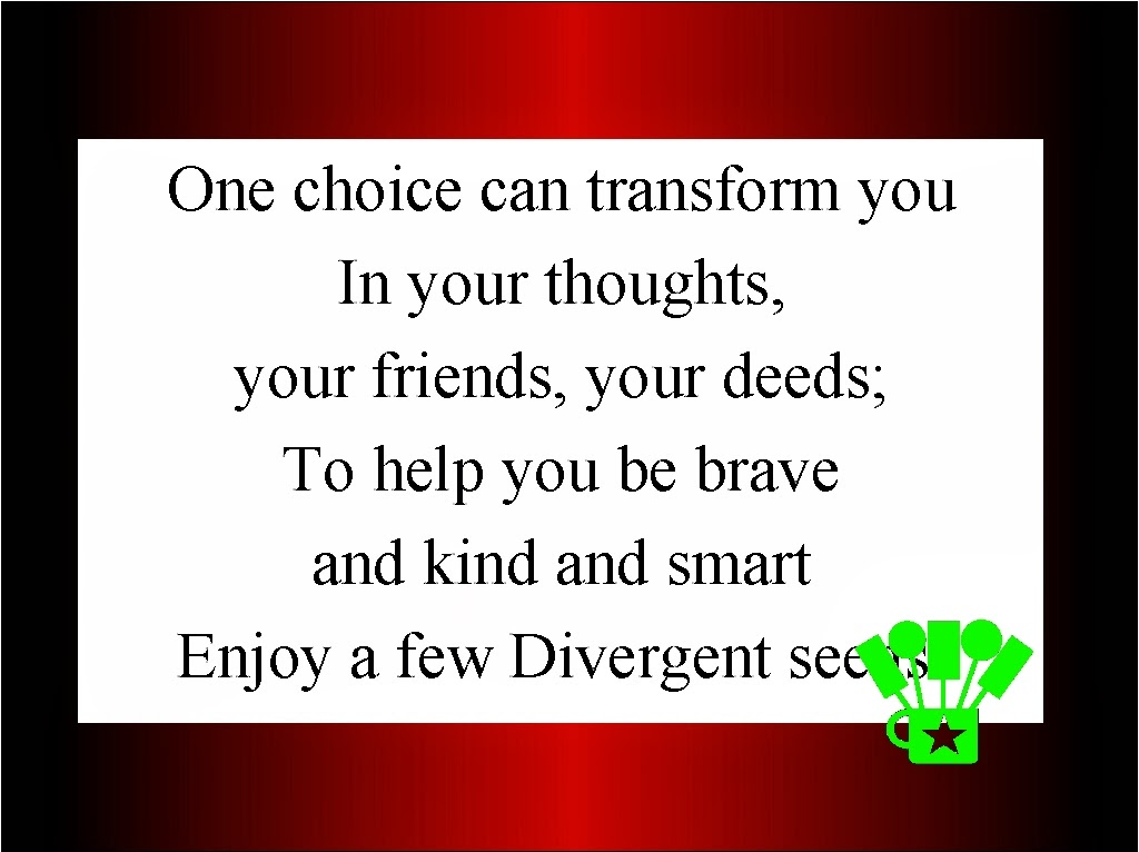 Divergent Seeds Bag Topper Printable by Kandy Kreations