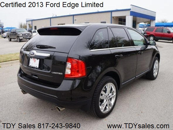 tdy sales 817 243 9840 for sale used certified 2013 ford edge limited blk on blk with. Black Bedroom Furniture Sets. Home Design Ideas