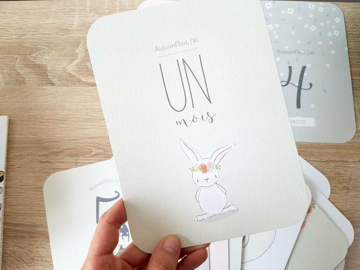 cartes étapes originales pour bébé