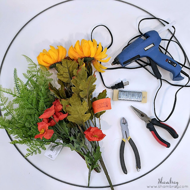 DIY Fall Hoop Wreath