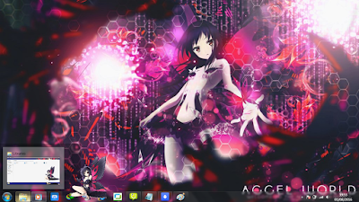 Theme Anime Windows 7 Kuroyukihime from Accel World 3