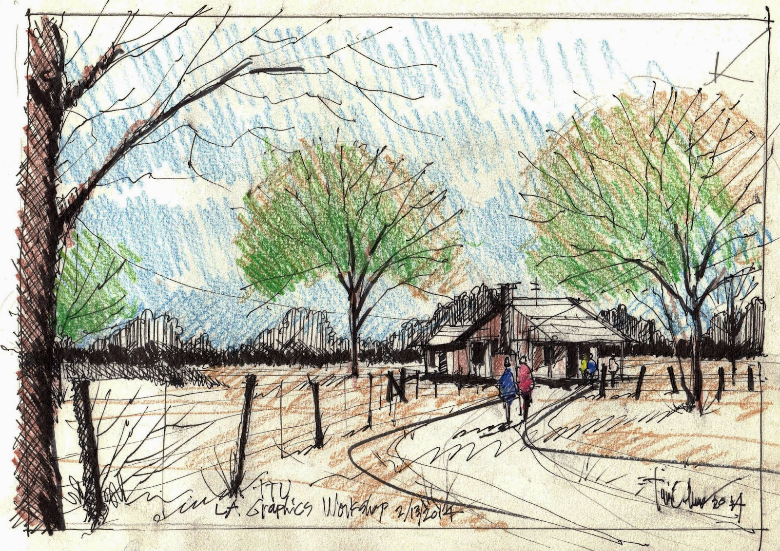 A Great Time Sketching With Texas Tech Landscape Architecture Students