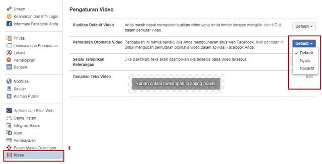 Cara Agar Video Di Facebook Tidak Terputar Otomatis
