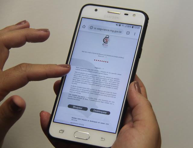 Central já bloqueou quase 15 mil celulares roubados e furtados - Foto: Divulgação Ascom/Sejusp