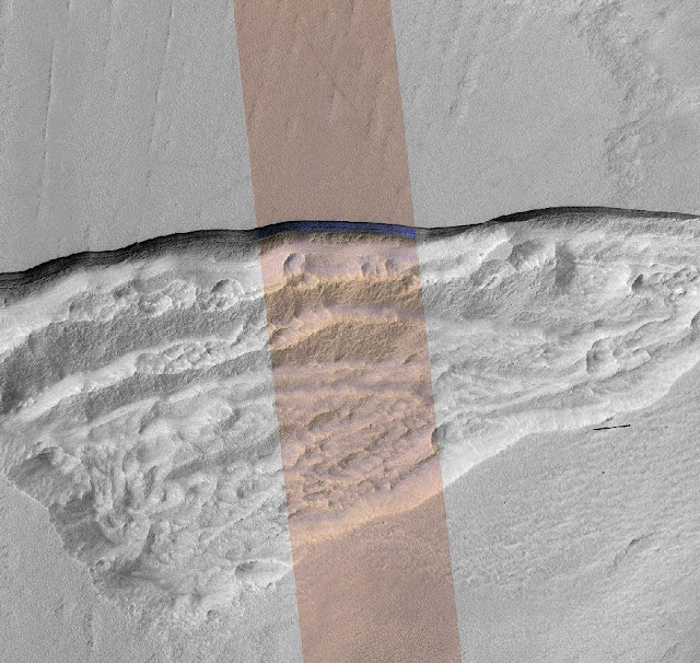 Steep slopes on Mars reveal structure of buried ice on Red Planet