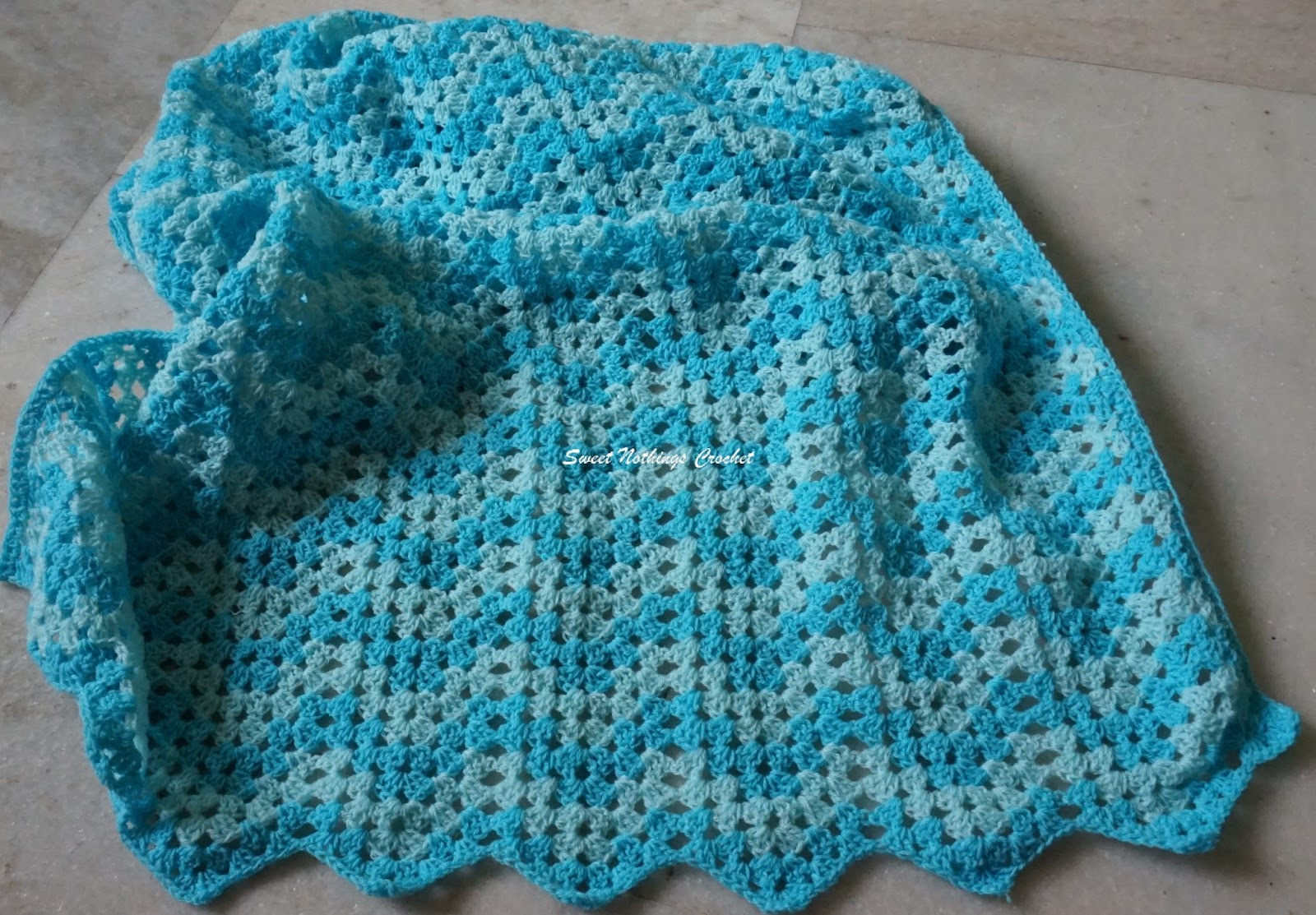Sweet Nothings Crochet: GRANNY RIPPLE AFGHAN FOR A BABY BOY