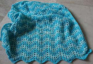 crochet ripple blanket pattern, crochet chevron blanket pattern, crochet blanket pattern for baby boy