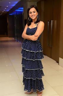 Shradha Srinath in Blue Gown