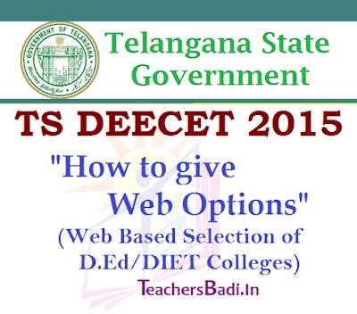 Web Options,TS DEECET 2015,Admissions