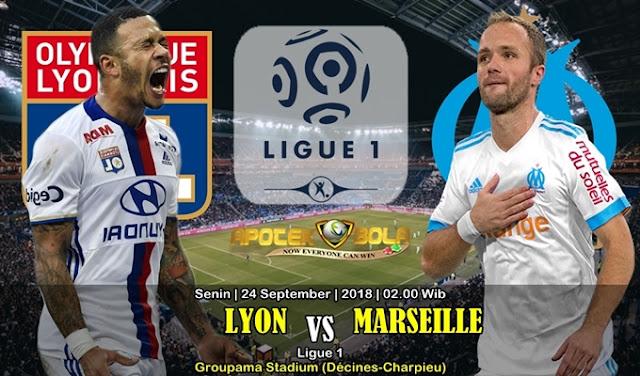 Prediksi Olympique Lyon vs  Marseille 24 September 2018