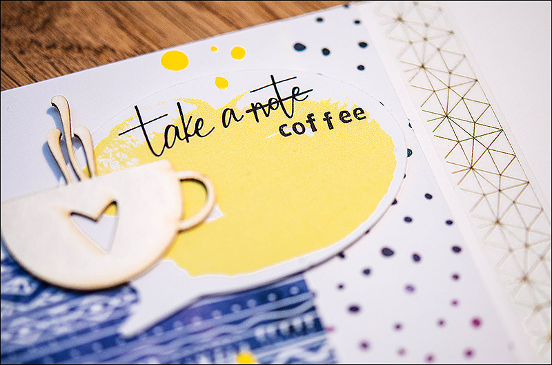 Stephanie Berger - Scrapbooking Layout - Studio40 - Coffeebreak