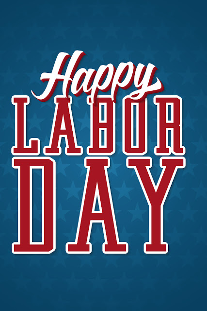 download free wallpaper for Apple iPhone 4 greeting card Happy Labor Day