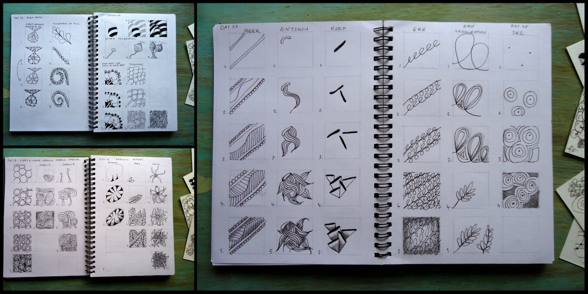 Ivy Arch's zentangle sketchbook