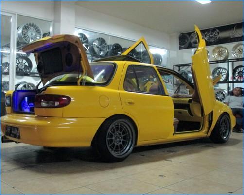 Body Kit Pick Up Futura >> Modifikasi mobil timor ceper elegan balap warna silver dan biru 2018