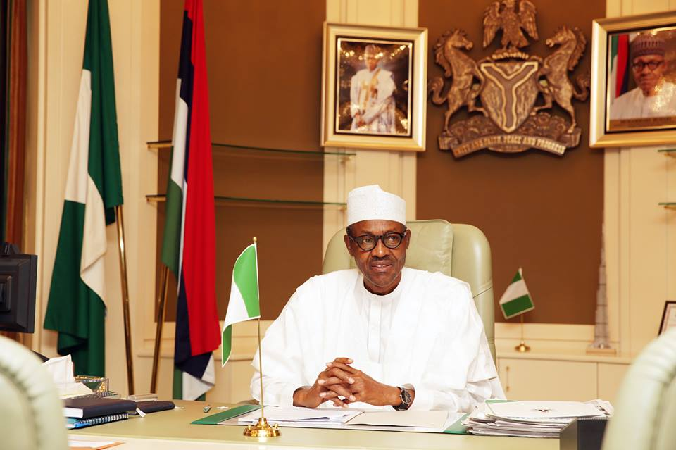 President Buhari resumes work after been sick for months
