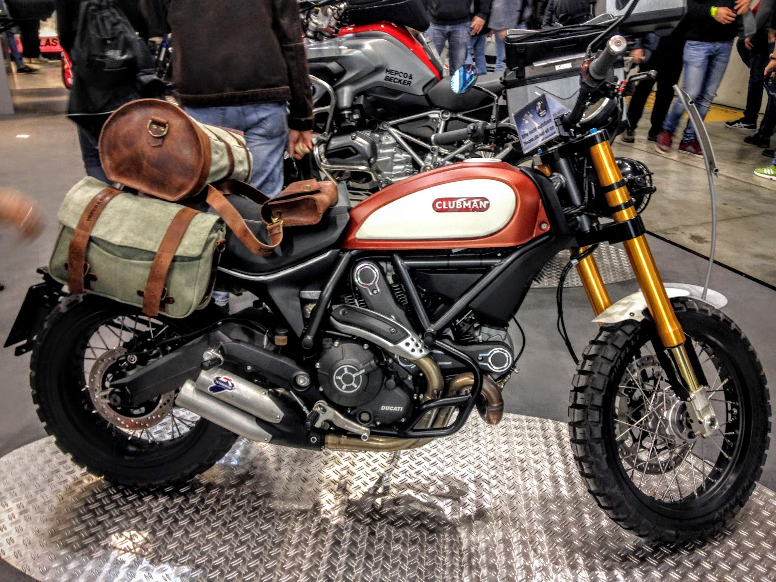 NYDucati: Hepco-Becker-modified Ducati Scrambler