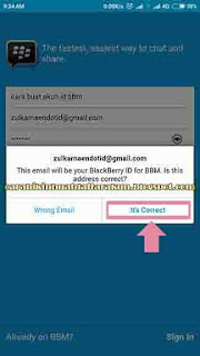 Cara Membuat Akun BBM Baru - Contoh Buat Akun Email BBM ID
