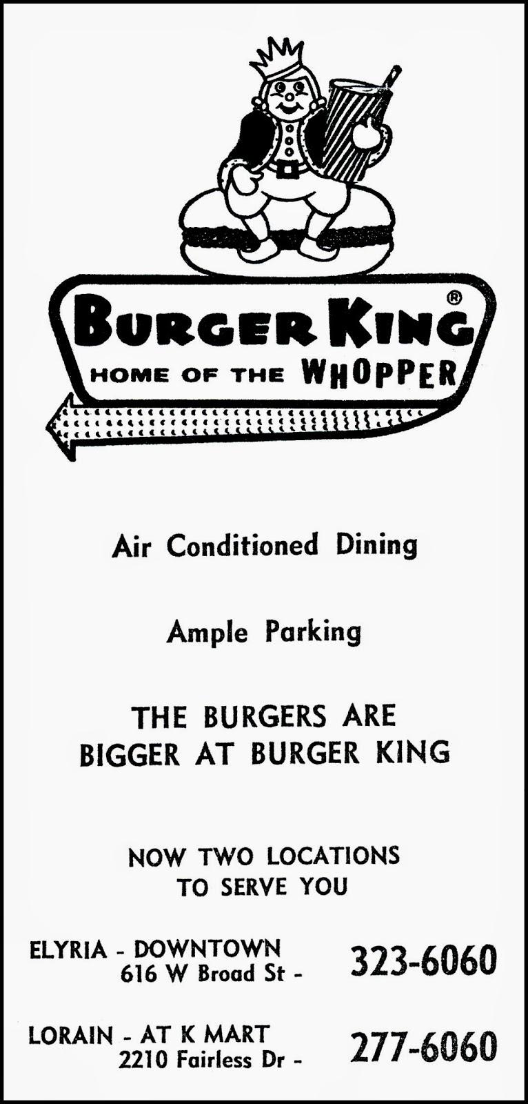 Restaurants Italian Near Me: Brady's Bunch Of Lorain County Nostalgia: 1969 Burger King