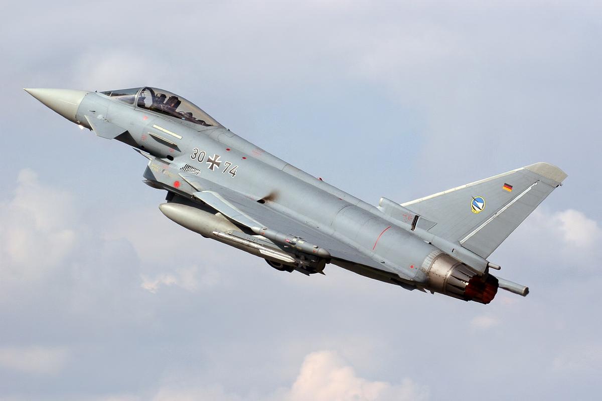 eurofighter typhoon of german air force aircraft wallpaper 3998