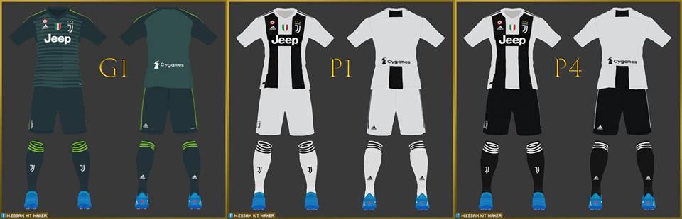 PES 2017 Juventus Kits 18-19 By Mohamed Essam