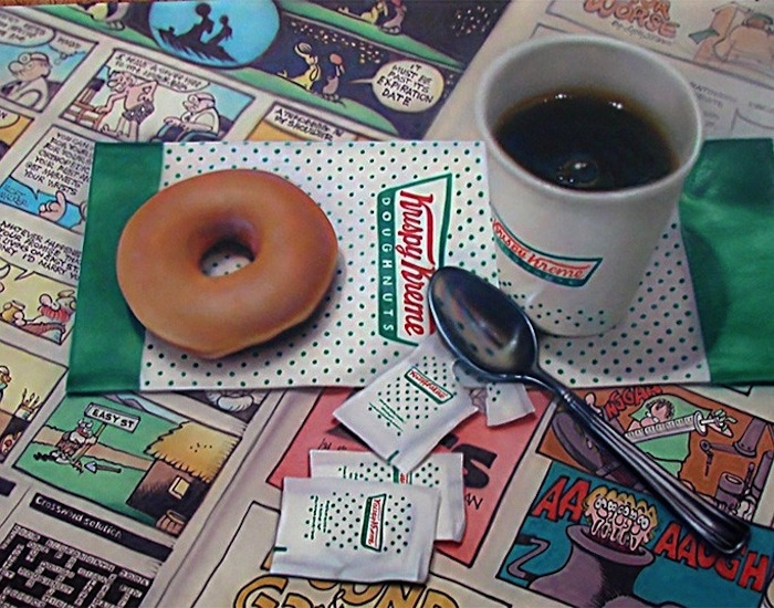 10-Krispy-Kreme-Doug-Bloodworth-Vintage-Comics-in-Hyper-Realistic-Painting-www-designstack-co