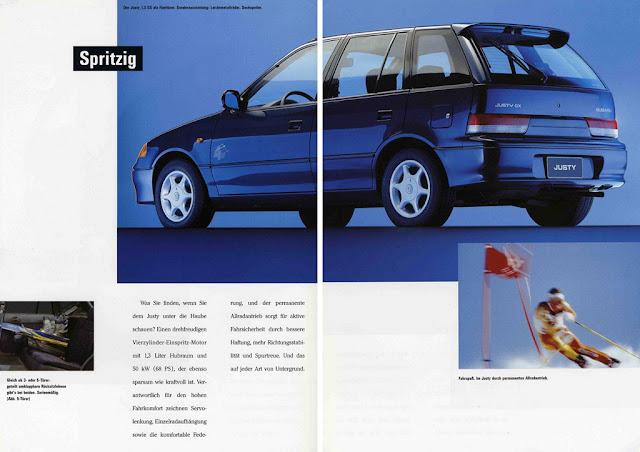 Subaru Justy MK2, 5-drzwiowy, broszura